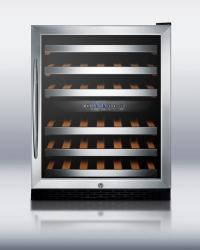 Brand: SUMMIT, Model: SWC530LBISTCSS, Style: 24 Inch Under-Counter Dual Zone Wine Cellar