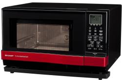 Brand: SHARP, Model: AX1100S, Color: Black with Red Accents