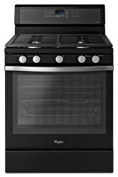 Brand: Whirlpool, Model: WFG710H0AH, Color: Black with Silver Handle