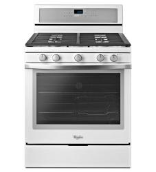 Brand: Whirlpool, Model: WFG710H0A, Color: White with Silver Handle