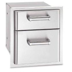 Brand: Fire Magic, Model: 53802, Style: 14 Inch Flush Mounted Double Drawer