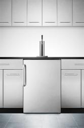 Brand: SUMMIT, Model: SBC490BIFR, Color: Stainless Steel with Towel Bar Handle