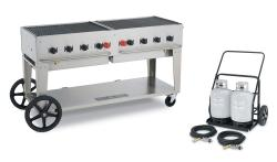 Brand: Crown Verity, Model: CVMCC60, Style: Mobile 60 Inch Liquid Propane Gas Grill