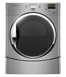 Brand: MAYTAG, Model: MEDE251YG, Color: Lunar Silver