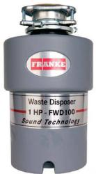 Brand: FRANKE, Model: FWD100, Style: 1 HP Continuous Feed Waste Disposer