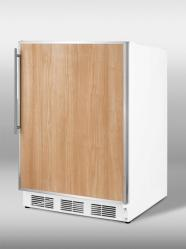 Brand: SUMMIT, Model: CT67FRADA, Style: ADA compliant freestanding refrigerator-freezer in white