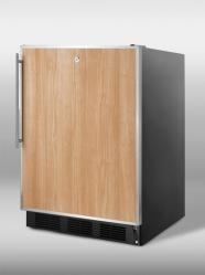 Brand: SUMMIT, Model: FF7LBLFRADA, Style: Commercially approved freestanding all-refrigerator in black