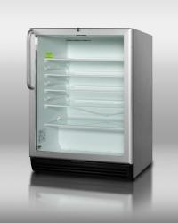 Brand: SUMMIT, Model: SCR600BLBI, Style: Stainless Steel Cabinet