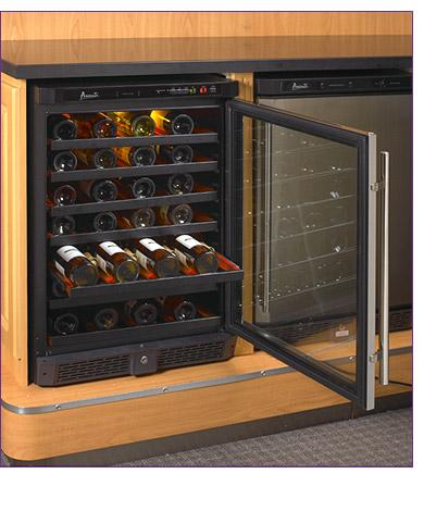 Avanti Wcr5103ss 24 Inch Built In Wine Cooler With Wooden