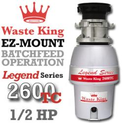 Brand: WASTE KING, Model: SS2600TC, Style: Waste King  Food Waste Disposers