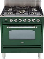 Brand: Ilve, Model: UPN76DVGGRB, Color: Emerald Green, Chrome Trim