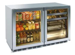 Brand: PERLICK, Model: HP48RBS4L4R, Style: Fully Integrated Glass Door
