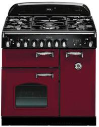 Brand: AGA, Model: ALEG36DFCDBLK, Color: Cranberry with Cathedral Door