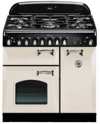 Brand: AGA, Model: ALEG36DFCDBLK, Color: Ivory with Cathedral Door