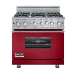 Brand: Viking, Model: VGIC5366BWHLP, Fuel Type: Apple Red - Natural Gas