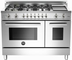 Brand: Bertazzoni, Model: PRO486GDFSVI, Fuel Type: Stainless Steel, Natural Gas