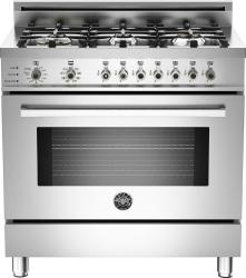 Brand: Bertazzoni, Model: PRO366DFSBILP, Fuel Type: Stainless Steel, Natural Gas