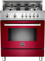 Brand: Bertazzoni, Model: PRO304DFSRO, Fuel Type: Red Wine, Natural Gas