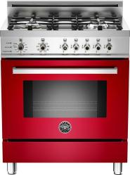 Brand: Bertazzoni, Model: PRO304DFSRO, Fuel Type: Red, Natural Gas