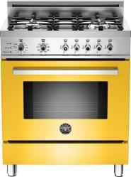Brand: Bertazzoni, Model: PRO304DFSRO, Fuel Type: Yellow, Natural Gas