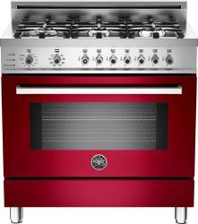 Brand: Bertazzoni, Model: PRO366DFSAR, Fuel Type: Red Wine, Natural Gas