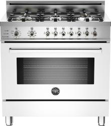Brand: Bertazzoni, Model: PRO366DFSRO, Fuel Type: White, Natural Gas