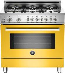 Brand: Bertazzoni, Model: PRO366DFSAR, Fuel Type: Yellow, Natural Gas