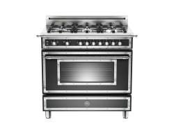 Brand: Bertazzoni, Model: HER366GASVI, Fuel Type: Matte Black, Natural Gas
