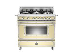 Brand: Bertazzoni, Model: HER366GASVI, Fuel Type: Matte Cream, Natural Gas