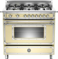 Brand: Bertazzoni, Model: HER366GASCR, Fuel Type: Matte Cream, Natural Gas