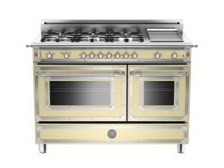 Brand: Bertazzoni, Model: HER486GGASVI, Fuel Type: Matte Cream, Natural Gas