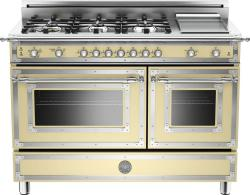 Brand: Bertazzoni, Model: HER486GGASNE, Fuel Type: Matte Cream, Natural Gas