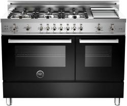 Brand: Bertazzoni, Model: PRO486GGASBILP, Fuel Type: Black, Natural Gas