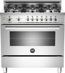 Brand: Bertazzoni, Model: PRO366GASBI, Fuel Type: Stainless Steel, Natural Gas