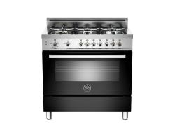 Brand: Bertazzoni, Model: PRO366GASVI, Fuel Type: Black, Natural Gas