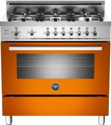 Brand: Bertazzoni, Model: PRO366GASBILP, Fuel Type: Orange, Natural Gas