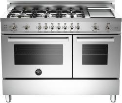 Brand: Bertazzoni, Model: PRO486GGASBILP, Fuel Type: Stainless Steel, Natural Gas