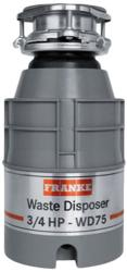 Brand: FRANKE, Model: WD75, Style: 3/4 HP Continuous Feed Waste Disposer