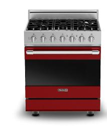 Brand: Viking, Model: RDSCG2305BWS, Color: Apple Red