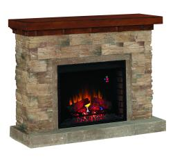 Brand: Classic Flame, Model: 28WM0913S250, Color: Engineered Stacked Stone with a Distressed Oak Top