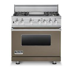 Brand: Viking, Model: VDSC5364GWHBR, Fuel Type: Stone Gray,  Liquid Propane