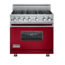 Brand: Viking, Model: VGCC5366B, Fuel Type: Apple Red - Natural Gas