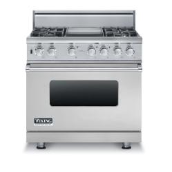 Brand: Viking, Model: VDSC5364GWHBR, Fuel Type: Stainless Steel, Liquid Propane