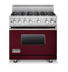 Brand: Viking, Model: VGCC5366BSSLP, Fuel Type: Burgundy - Natural Gas