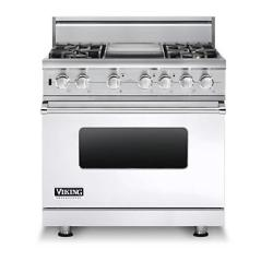 Brand: Viking, Model: VDSC5364GWHBR, Fuel Type: White, Liquid Propane