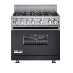 Brand: Viking, Model: VGCC5366B, Fuel Type: Graphite Gray - Natural Gas