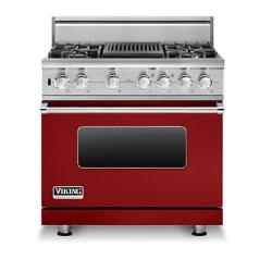 Brand: Viking, Model: VDSC5364QDJ, Fuel Type: Apple Red, Liquid Propane