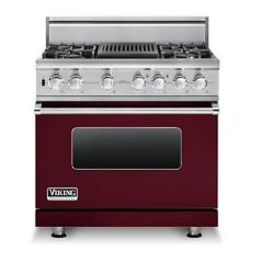 Brand: Viking, Model: VDSC5364QDJ, Fuel Type: Burgundy, Liquid Propane