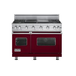 Brand: Viking, Model: VGCC5484GQWHBR, Fuel Type: Burgundy - Natural Gas
