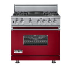 Brand: Viking, Model: VGSC5364QBULP, Fuel Type: Apple Red - Natural Gas